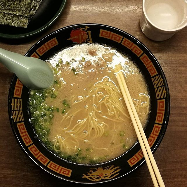 And now, time for some legit ramen from Ichiran.